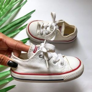 BABY WHITE LOW TOP CONVERSE